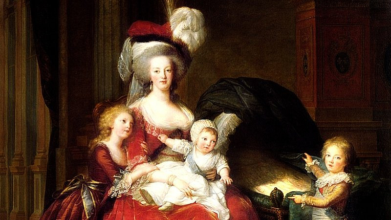 Zdroj: commons.wikimedia, Public Domain, https://cs.wikipedia.org/wiki/Marie_Antoinetta#/media/Soubor:Marie_Antoinette_and_her_Children_by_Élisabeth_Vigée-Lebrun.jpg