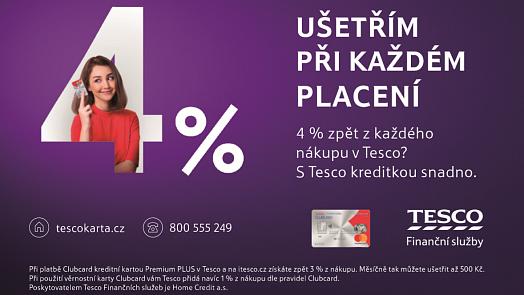 Nakupujte výhodněji s Tesco Clubcard kreditní kartou. Nyní je pro zákazníky ještě výhodnější