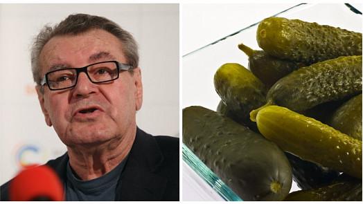 Miloš Forman se ani za oceánem neobešel bez českých jídel, miloval hlavně kyselé okurky