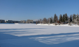 Zima na přehradě
