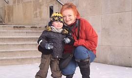 Toulání s vnoučkem zimou