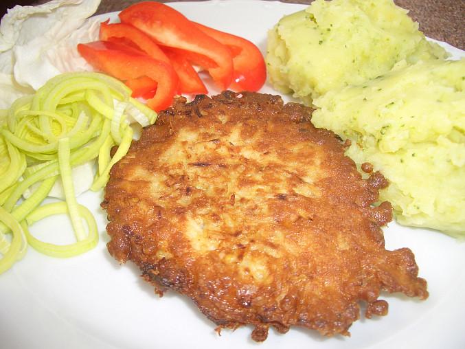 Cikánský řízek, Cikánský řízek s bramborovo-brokolicovou kaší. DOBROTA !!!