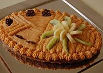 Čokolový dezert s karamelovým krémem