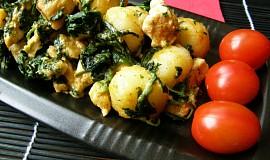 Gnocchi s kuřecím masem a špenátem