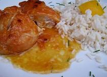 Kuře na meruňkách