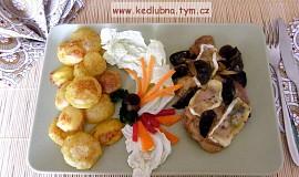 Kuřecí plátky s houbami a hermelínem