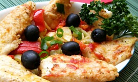 Pangas se zeleninou a olivami