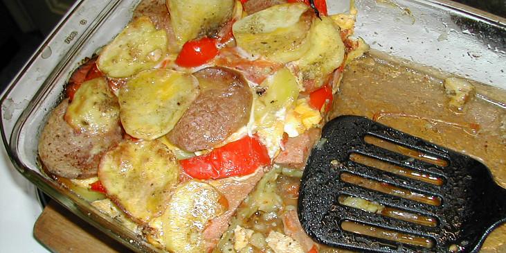 Paprikové brambory se smetanou