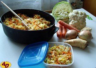 Polévková zelenina na zimu, zelenina do polévky