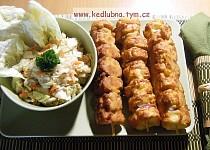 Rohlíkové špízy - levná večeře