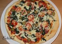 Špenátová pizza