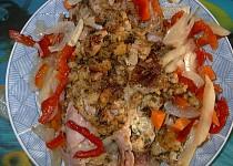 Šunkové rolky s kuřecím masem