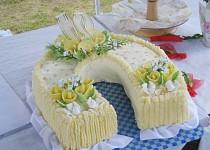 Svatební dort podkova