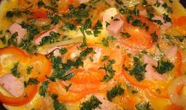 Vaječná omeleta se salámem