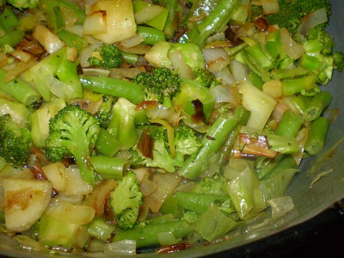 hotová zelená zelenina