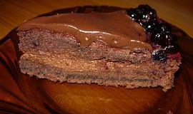 Čokoládový dort s borůvkami