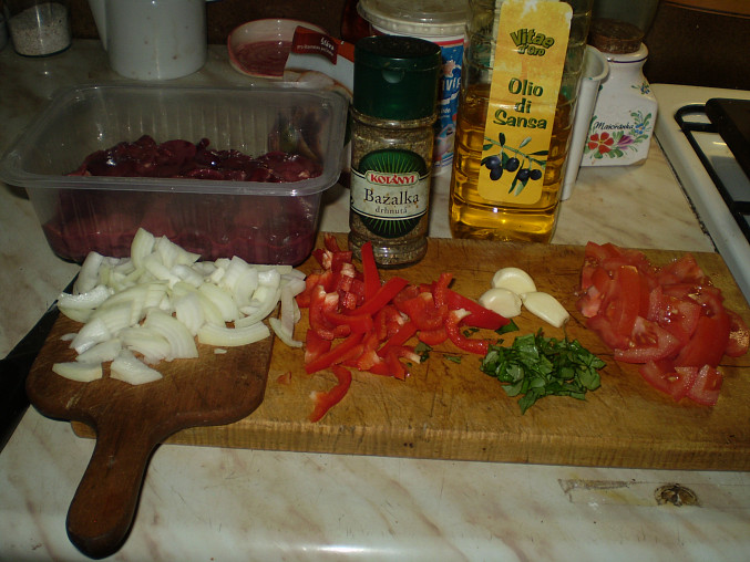příprava ingrediencí
