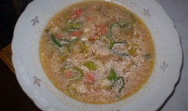 Drůbková polévka s protlakem a smetanou