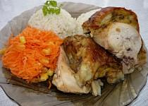 Kuře s žemlovo-máslovou nádivkou