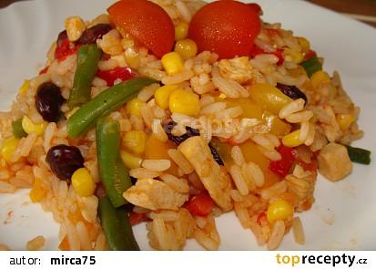 Kuřecí  kousky s rýží a zeleninou