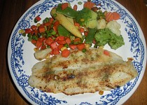 Pangas se zeleninou a hranolkami