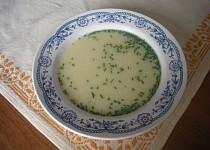 Pažitková rychlá polévka