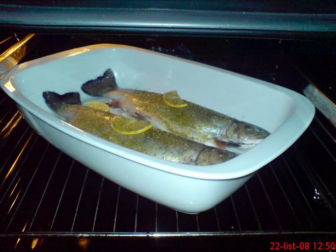 Rybky v procesu pečení
