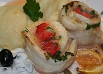 Roládky z pangase s uzenou rybou