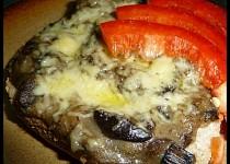 Smetanové houby se sýrem