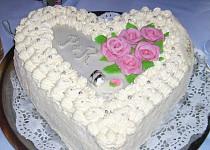 Svatební dort -srdce