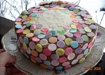 Točený dort s marcipánovou šlehačkou
