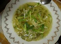 Zelená česneková polévka