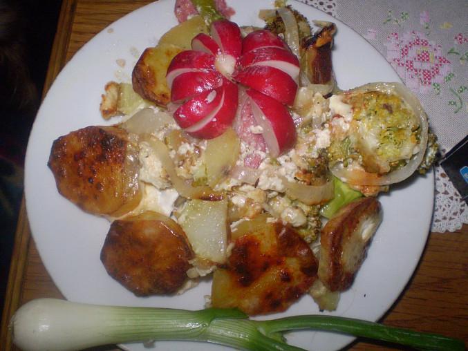Brokolice a brambory v pekáči, brokolice a brambory v pekáči