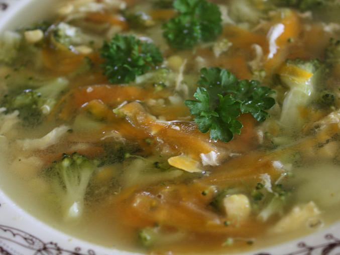 Brokolicová polévka - barevná, Brokolicová polévka - barevná