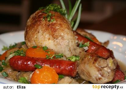 Francouzské kuřátko v kapustě