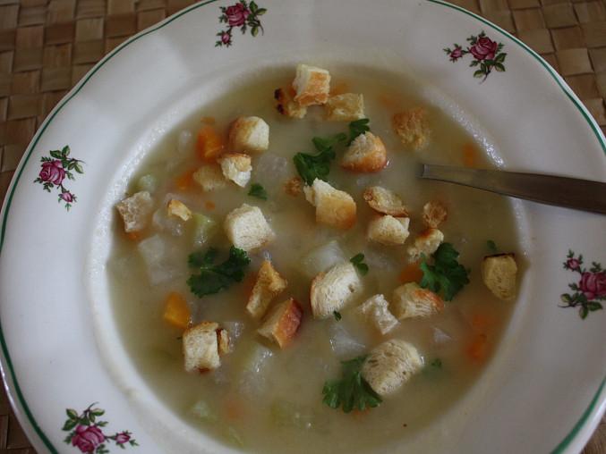 Kedlubnová nebo květáková mléčná polévka, Kedlubnová mléčná polévka