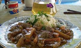 Kedlubnové maso na bazalce