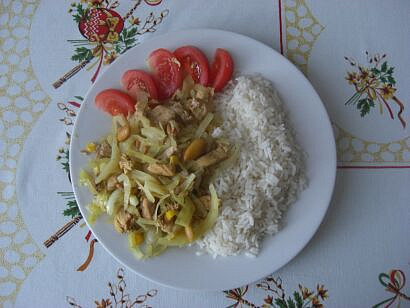 s kukuřicí a rýží