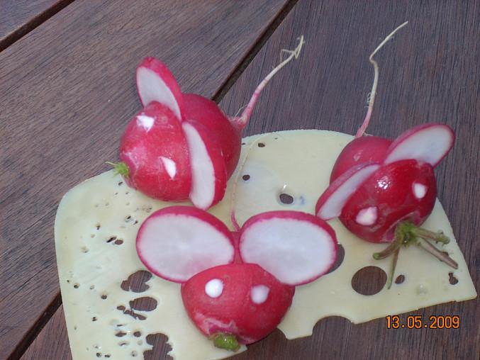 Myšky z ředkvičky