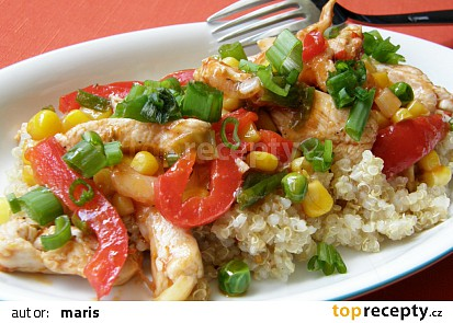 Quinoa / merlík / s kuřecím masem a zeleninou