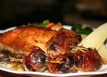 Smetanové kuře se žampióny a sušenými rajčaty