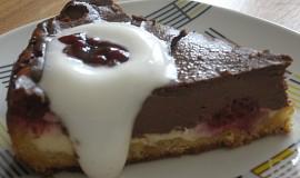 Tvarohový koláč s malinami, čokoládou, vanilkou...
