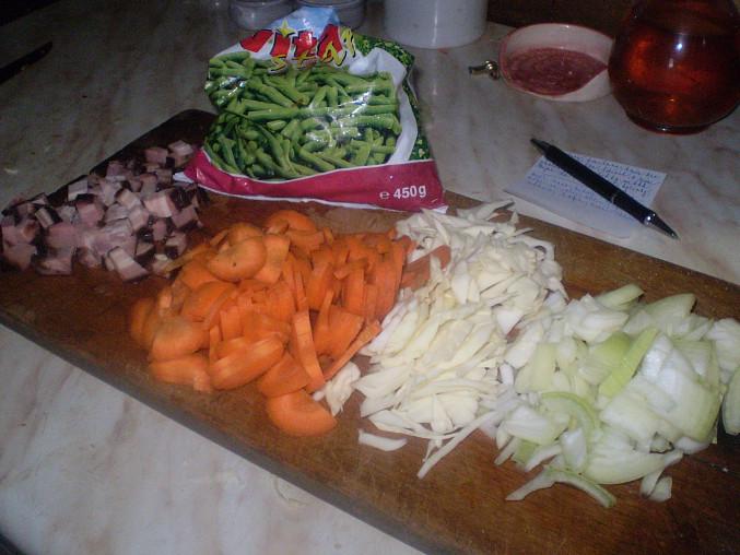 připravená zelenina..