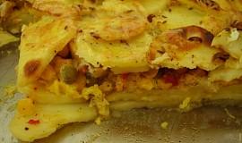 Zapečené brambory s kuřecím masem