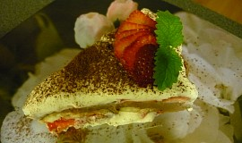 Dvoubarevný studený dort
