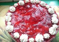Jahodový dort nepečený
