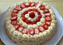 Jahodový slavnostní dort