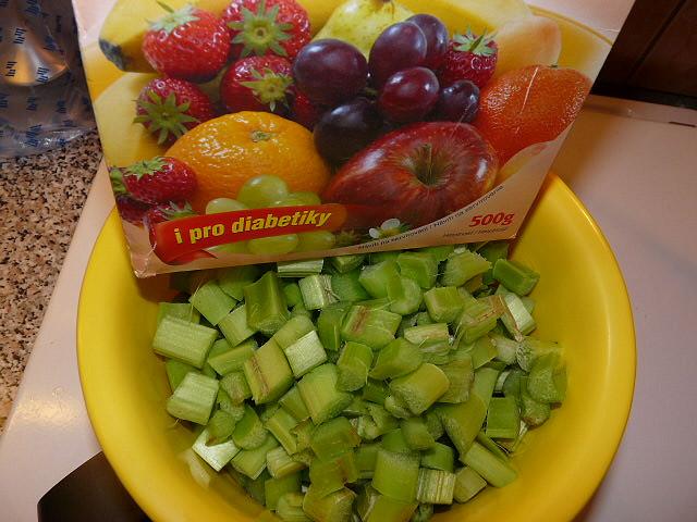 rebarbora a fruktoza