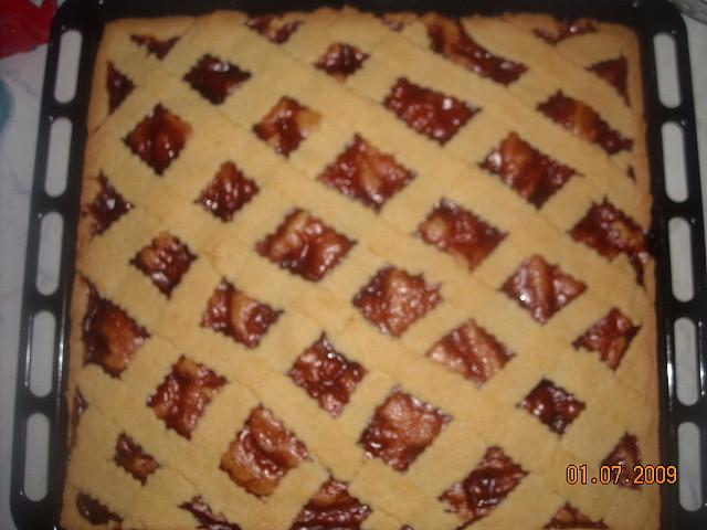 Křehký mřížkový koláč
