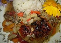 Pečené kuře s oreganem a hlívou ústřičnou